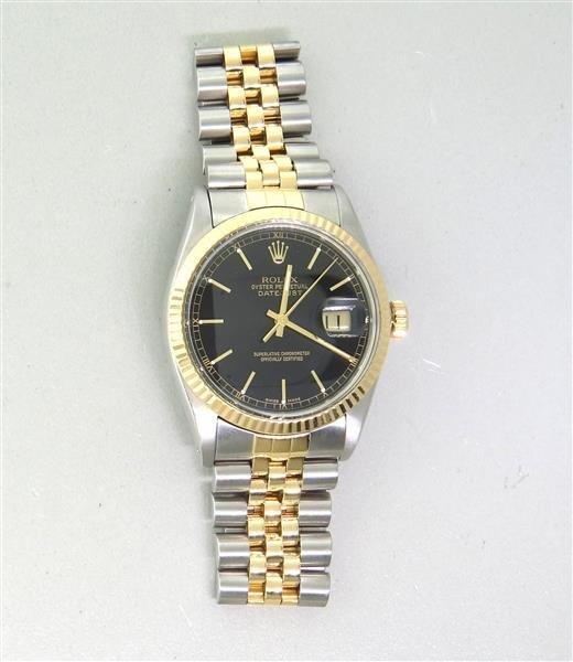 Rolex Datejust Chronometer 18k Gold Steel Watch ref