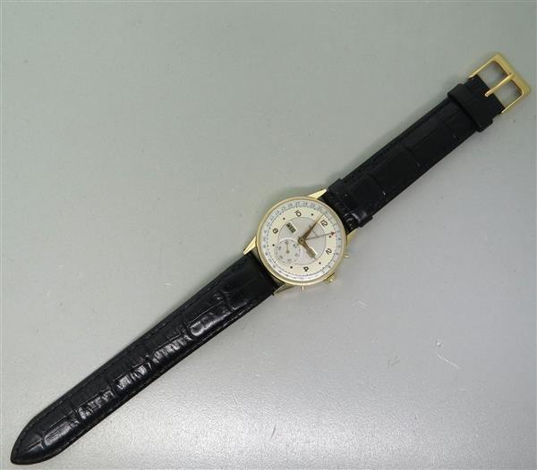 1940s 14K Gold Movado Triple Calendar Watch