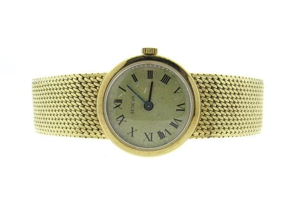 Geneva 14k Gold Watch Bracelet