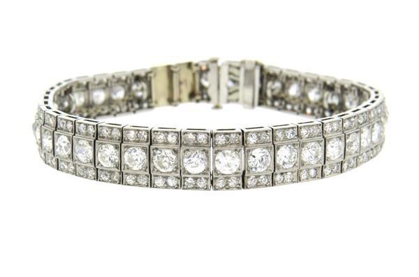 Antique Platinum 13ctw Diamond Bracelet