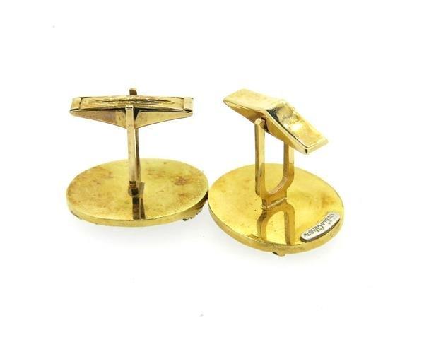 Julius Cohen 14k Gold Bird Oval Cufflinks - 3