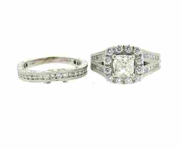 14k Gold 1.20ct Engagement Ring Wedding Band Set