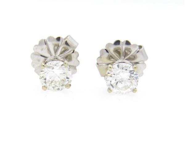 14K Gold 1.75ctw Diamond Stud Earrings