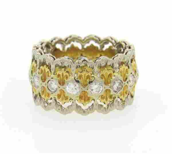 Vintage Mario Buccellati 18K Gold Diamond Openwork Band