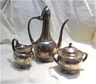 Tiffany amp Co Sterling Silver 3pc Tea Set