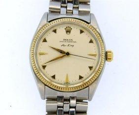 Rolex Air King 14k Gold Steel Watch Ref. 5501