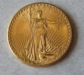 1927 Saint Gaudens 20 Dollar Double Eagle Gold Us Coin