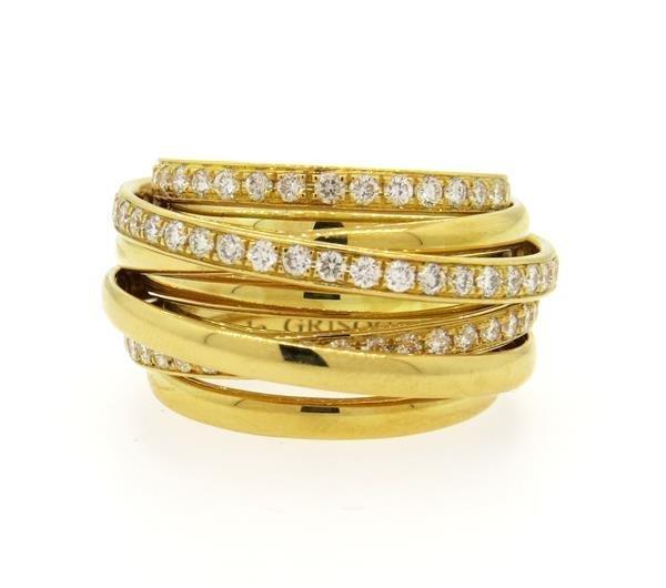 De Grisogono Allegra 18K Gold 2.00ctw Diamond Ring