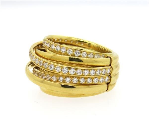 De Grisogono Allegra 18K Gold 2.00ctw Diamond Ring - 2