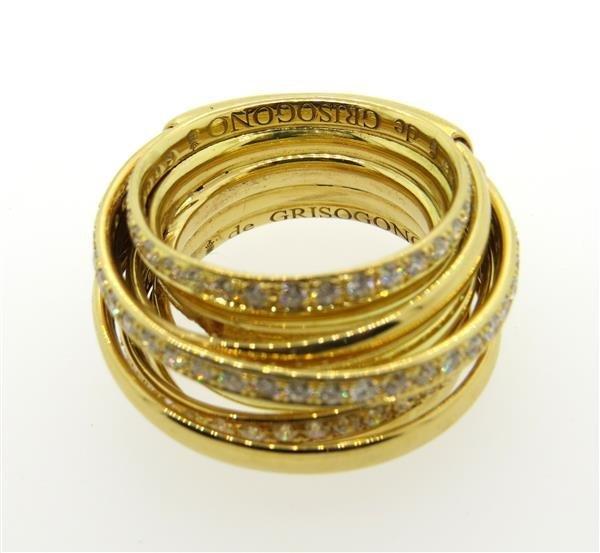 De Grisogono Allegra 18K Gold 2.00ctw Diamond Ring - 4