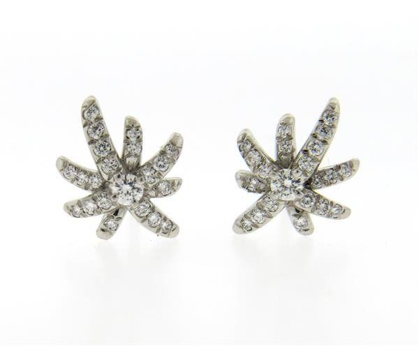 Tiffany & Co. Fireworks Platinum Diamond Stud
