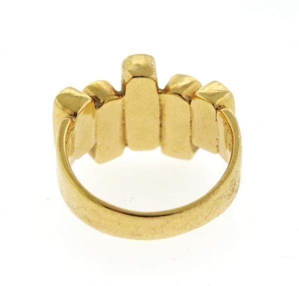 14K Gold Lapis Ring - 3