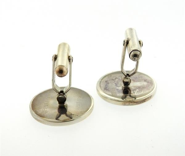Tiffany & Co. Sterling Golfer Enamel Gold Cufflinks - 4