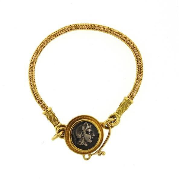 Daniel Gibbings 18K 22K Gold Coin Bracelet