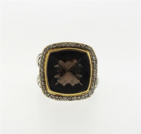 David Yurman Albion 18k Gold Sterling Diamond Topaz