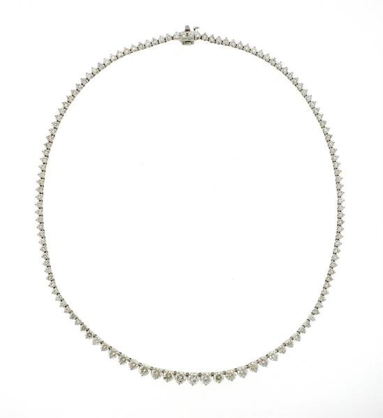 18K Gold 11.90ctw Diamond Riviera Necklace
