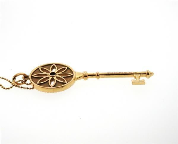 Tiffany & Co. Daisy Key 18K Gold Diamond Pendant - 6