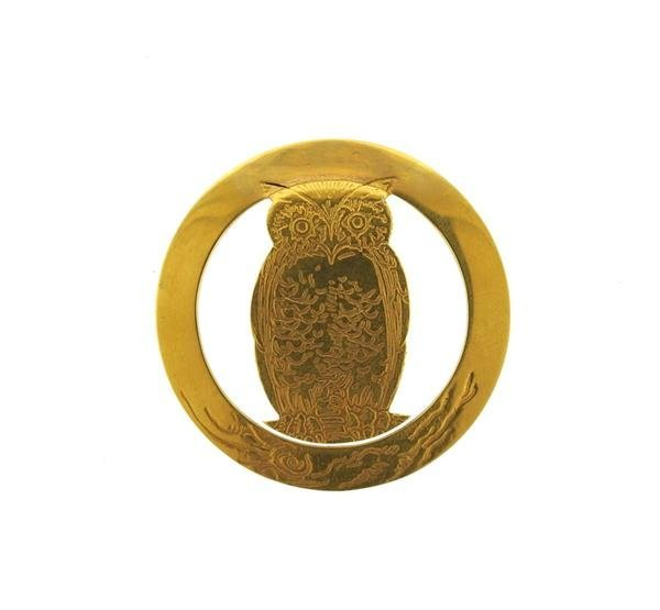 Tiffany & Co. 18K Gold Owl Money Clip