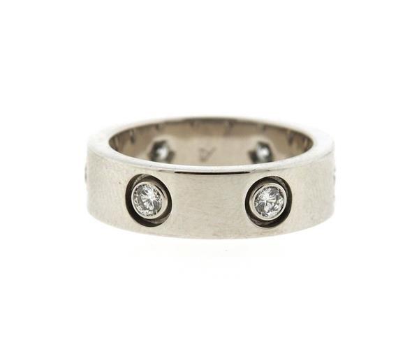 Cartier Love 18K Gold Diamond Eternity Band Ring