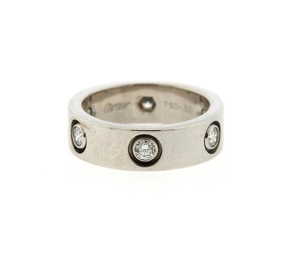Cartier Love 18K Gold Diamond Eternity Band Ring - 3