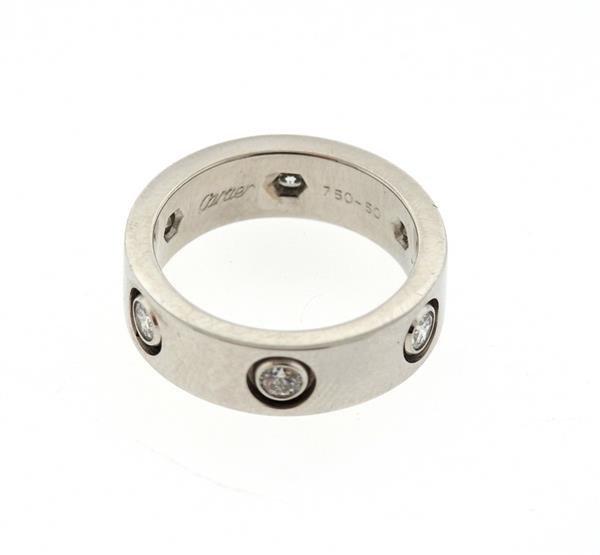 Cartier Love 18K Gold Diamond Eternity Band Ring - 4