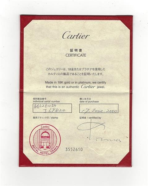 Cartier Love 18K Gold Diamond Eternity Band Ring - 5
