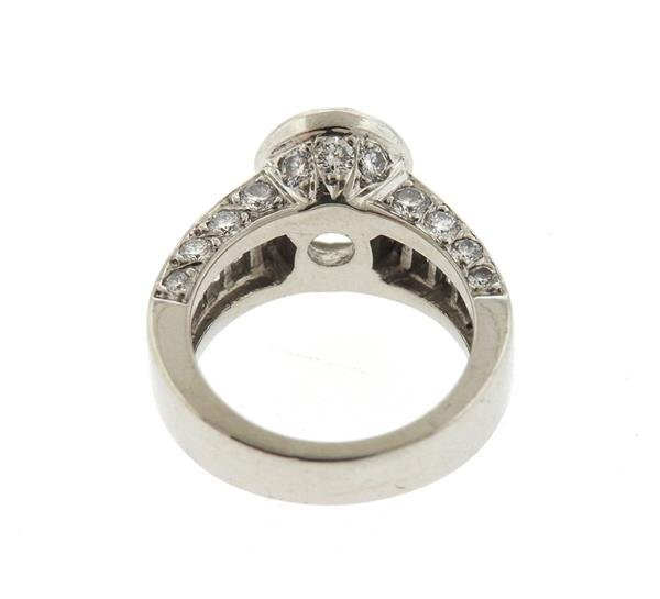 Platinum 1.75ctw Diamond Engagement Ring Mounting - 3