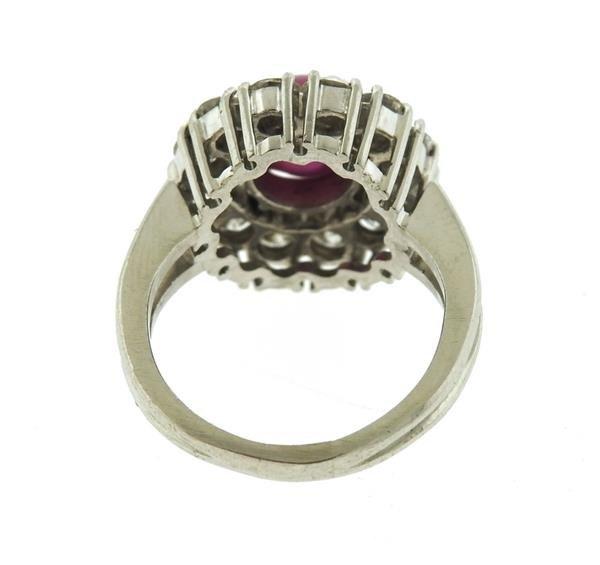 Platinum 3ct Star Ruby 1.50ctw Diamond Ring - 4