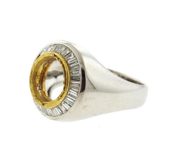 Platinum 18K Gold 2.00ctw Diamond Ring Mounting - 2