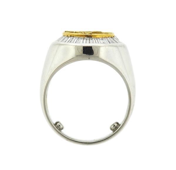 Platinum 18K Gold 2.00ctw Diamond Ring Mounting - 4