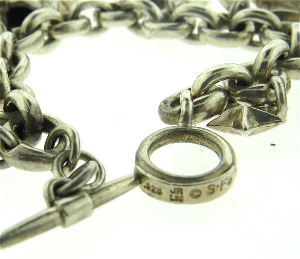 Native American Sterling 3D Charm Bracelet - 2