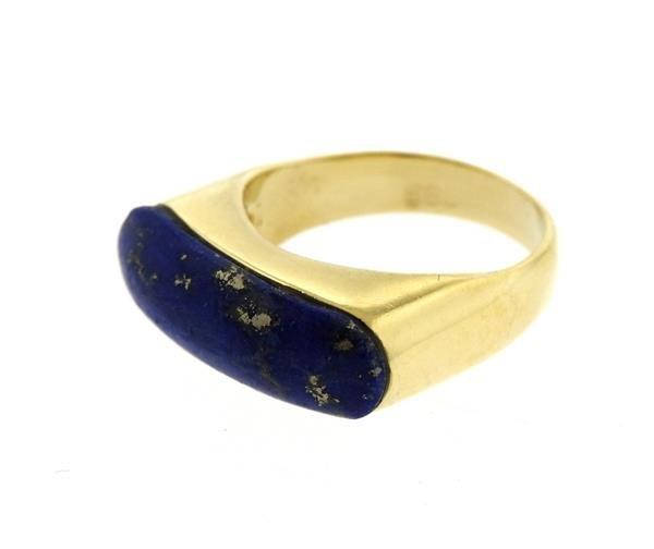 14K Gold Lapis Ring - 2