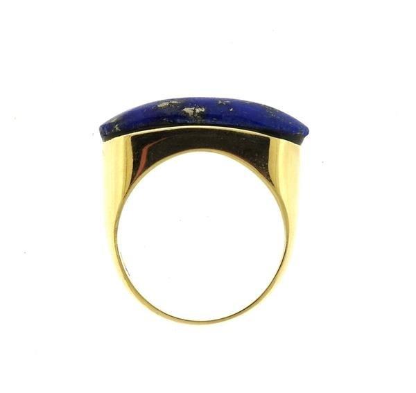 14K Gold Lapis Ring - 4