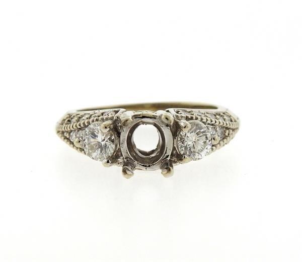 Delco 14k Gold Diamond Engagement Ring Setting