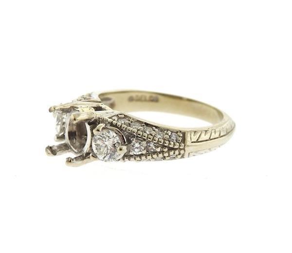 Delco 14k Gold Diamond Engagement Ring Setting - 2