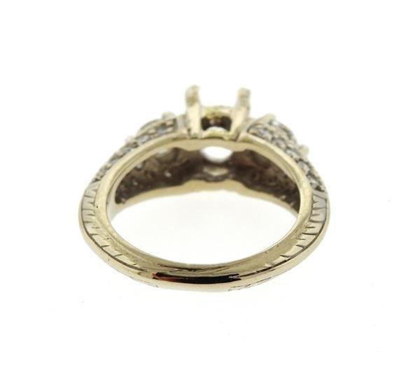 Delco 14k Gold Diamond Engagement Ring Setting - 3