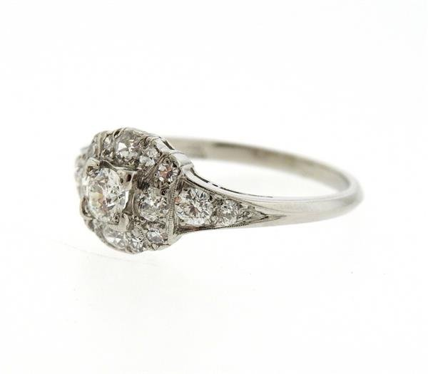 Platinum Diamond Engagement Ring - 2