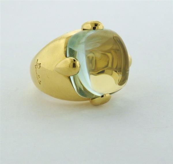 Pomellato 18K Gold Aquamarine Cocktail Ring