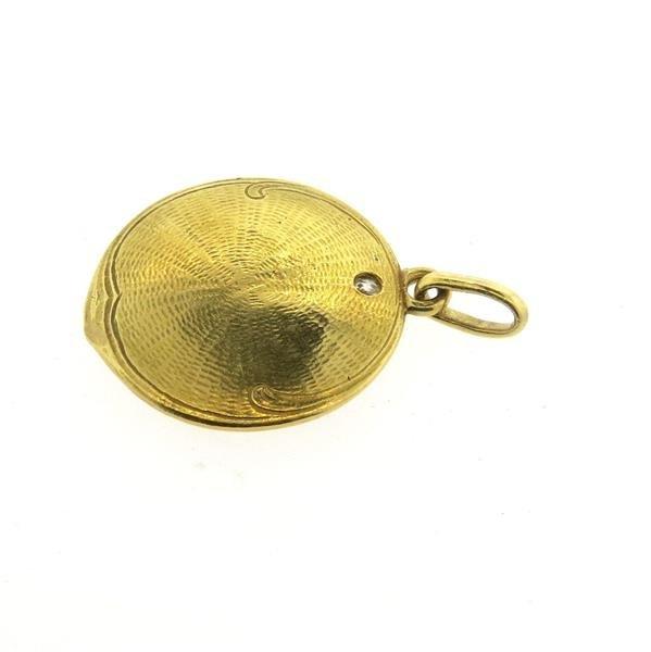 Art Nouveau 18k Gold Diamond Nymph Pendant - 3