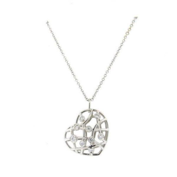 Hearts On Fire Brocade 18k White Gold Diamond Pendant