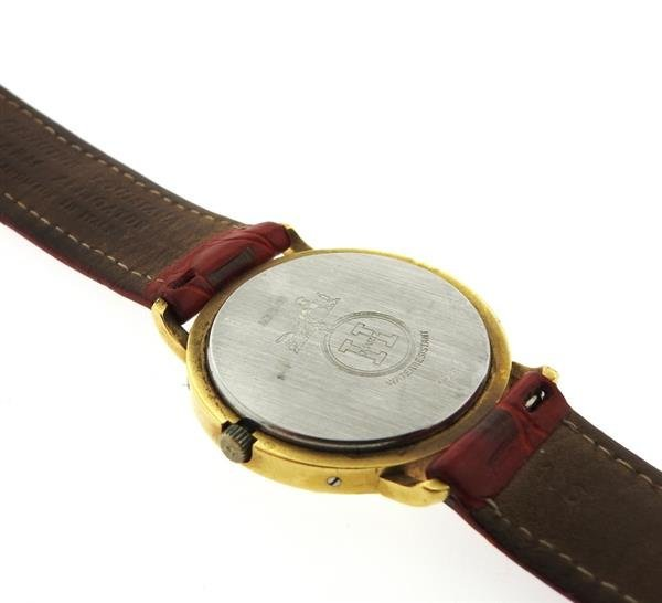 Hermes 18K Gold Stainless Steel Leather Strap Watch - 4