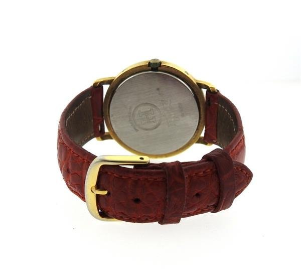 Hermes 18K Gold Stainless Steel Leather Strap Watch - 5