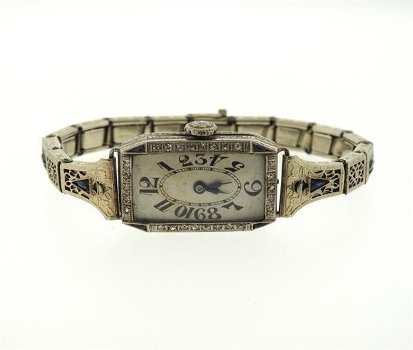 Art Deco Platinum Diamond Watch