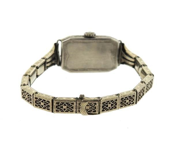 Art Deco Platinum Diamond Watch - 2