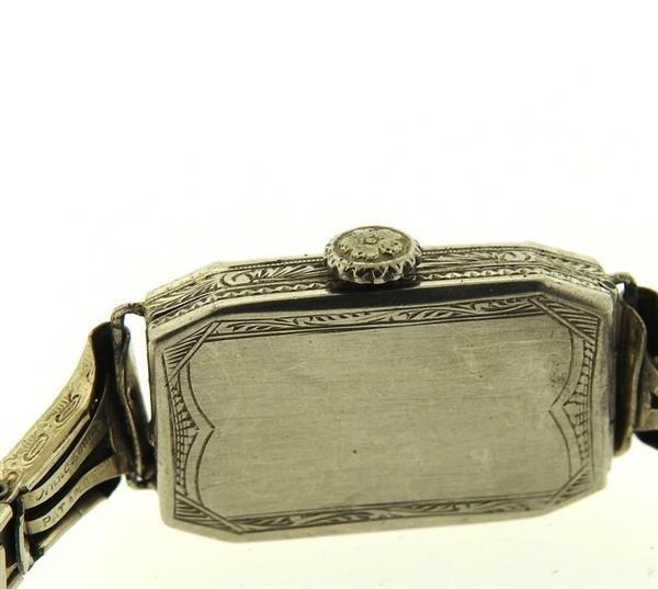 Art Deco Platinum Diamond Watch - 3
