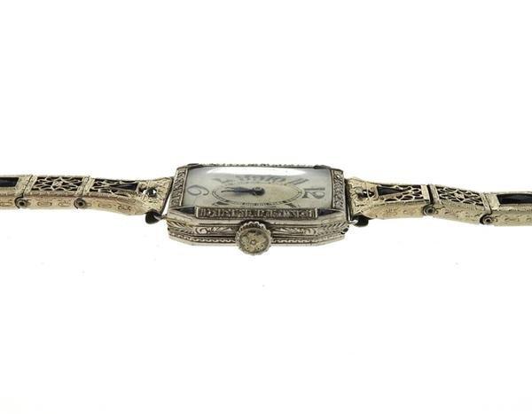 Art Deco Platinum Diamond Watch - 4