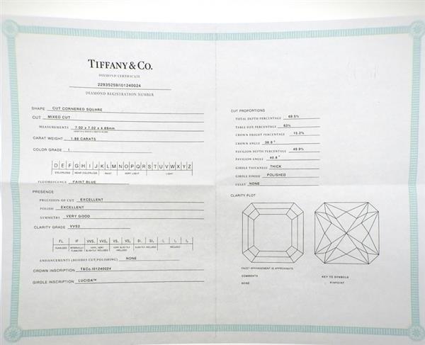 Tiffany & Co. Lucida Platinum 1.88ct VVS2 I Diamond - 7