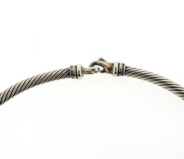 David Yurman 14K Gold Sterling Silver Cable Collar - 3
