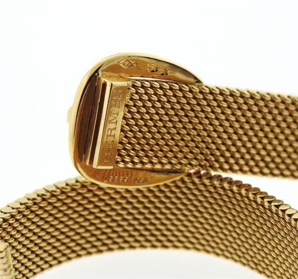 Hermes 18K Gold Mesh Double Wrap Buckle Bracelet - 3