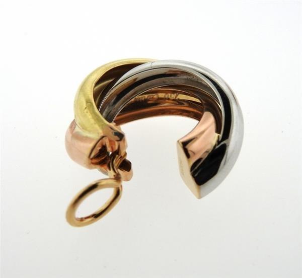 Cartier Trinity 18K Tri Color Hoop Earrings - 2